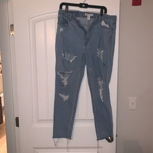 H&M High waist distressed jeans